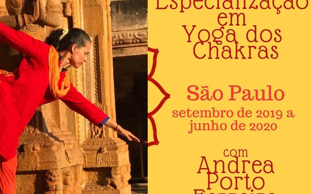 Especialização em Yoga dos Chakras com Andrea Porto Ferreira